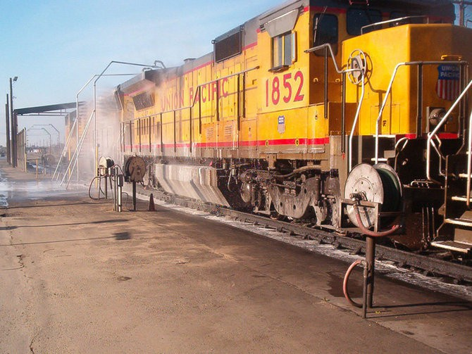 Locomotive Light Rail Transit And Freight Car Train